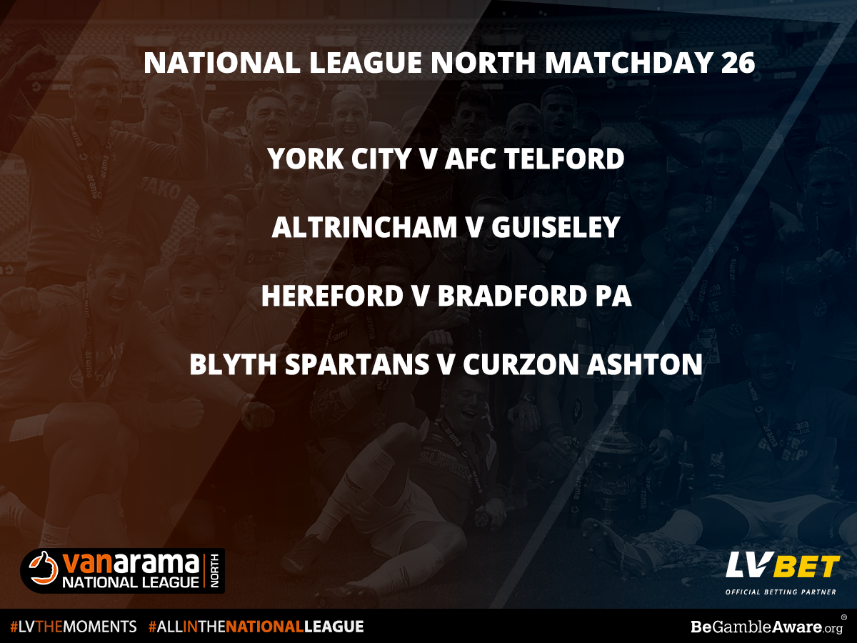Stat Pack National League North Matchday 26 by Official Betting Partner LV BET