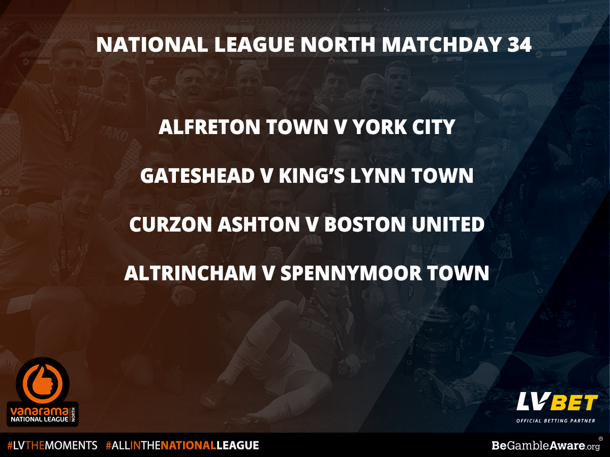 Stat Pack National League North Matchday 34 by Official Betting Partner LV BET