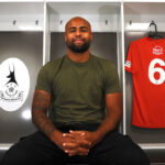 New AFC Telford United signing Courtney Meppen-Walter at the New Bucks Head